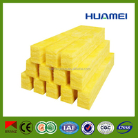 Yellow flame retardent thermal insulation glass wool batts
