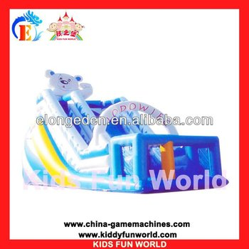 2013 outdoor playground inflatable slide bouncy castle children's pool with a slide