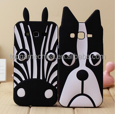 3D Zebra Husky Dog Silicone Case for Fundas Samsung Galaxy win i8552 i8550 GT-i8552 Back Cover for Capa Para Galaxy 8552 Case