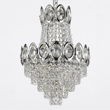 Polished Chrome K9 Crystal Lampara Chandelier Wedding Decoration