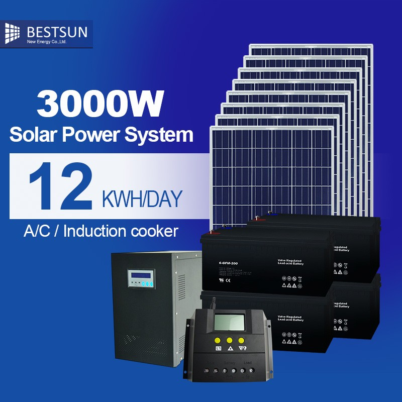 solar panels solar energy system / 20kW whole house solar power system for home 3000W