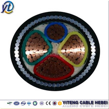 0.6/1kV PVC insulated copper conductor 4 core armoured power cables 120mm