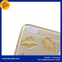 for iPhone 6 3D Case TPU Lip Mouth Kiss Soft Case