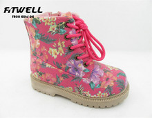 canvas upper girls pretty ankle boots