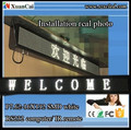 P7.62_ 16 X 192 LED moving message two lines display sign