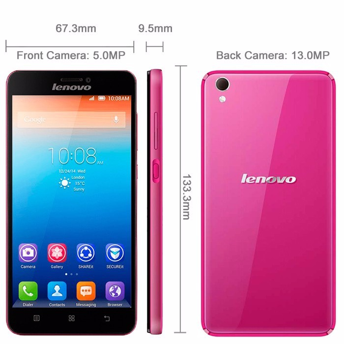 Original 5.0 inch Lenovo S850 MTK6582 Quad Core 1.3Ghz 1GB RAM/16GB ROM 1280*720 Dual SIM 13.0MP Camera Android 4.4 Smartphone