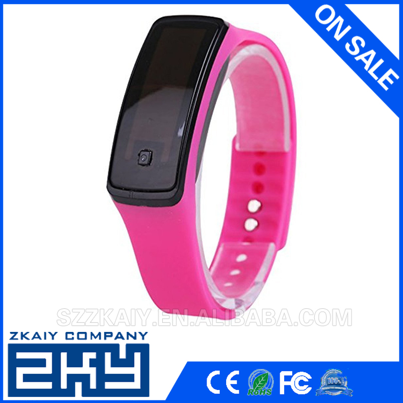Sports Bracelet Digital date silicone PVC Wrist Jewelry led Watches