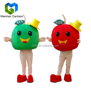 Pluh cartoon apple fruit mascot costumes commercial