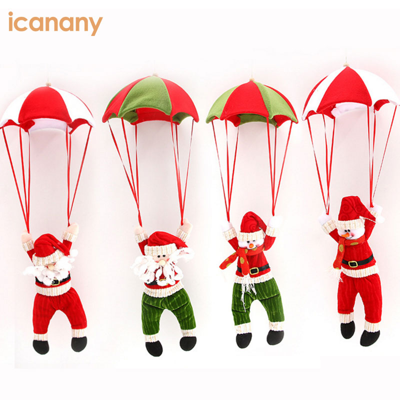 2018 wholesale new Christmas gift cute Santa Claus with parachute costume for kids Christmas decoration