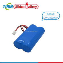 Factory Price 7.4v 18650 1800mah Useful Li-ion Battery Pack