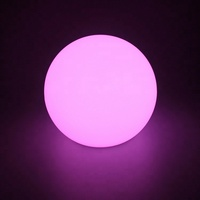 Rotomolding PE plastic outdoor garden led glowing ball lamp/ grass lighting ball/led illuminated sphere, led floating ball