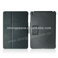 black luxury leather case for Ipad mini