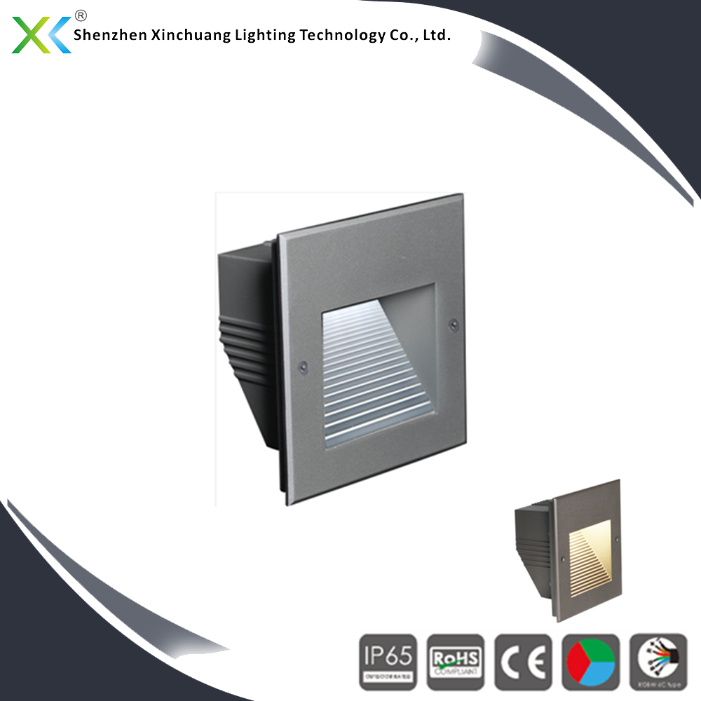 CE RoHS IK10 SMD3020 outdoor indoor 220v CW/WW/R/G/B led stair wall light