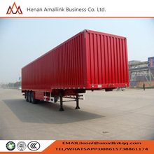 Three-Axle Van semi-trailer/High quality 45ft 3 axle curtain side van semi-trailer