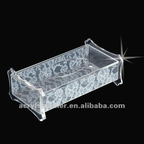 custom rectangle acrylic Tissues box for hotel