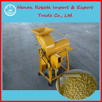 Hot sale double-roller mini corn sheller / corn thresher/ shelling machine with wide inlet