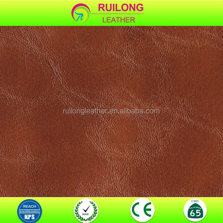 Soft pu synthetic leather fabric brown sofa leather material