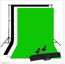 Photo Studio Black White Chroma Key Green Background Backdrop Screen Stand Kit