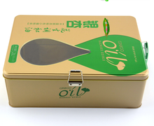 Food grade custom printed olive oil tin box with handle