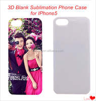 3D Sublimation Cell Phone Cover Blank Sublimation Phone Case for IP5 Top Qulity Moblie Phone Case