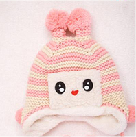 Children's winter hats for men and women plus velvet baby panda hat