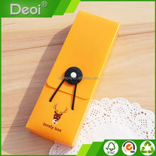 New arrival pencil box with elastic band school pencil box