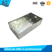 Hot Sale Galvanized Steel Electric Socket Switch Junction Box Knockout GI Box