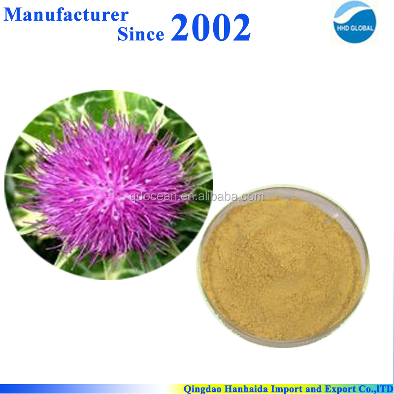 HOT!!!factory supply high quality Milk thistle/Silymarin/Silybin with reasonable price