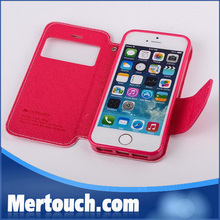 for iphone 5 leather case , for iphone 5 case leather , for iphone 5 flip case leather (Mercury)