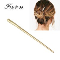 Fashion Simple Gold Color Long Hair Sticks