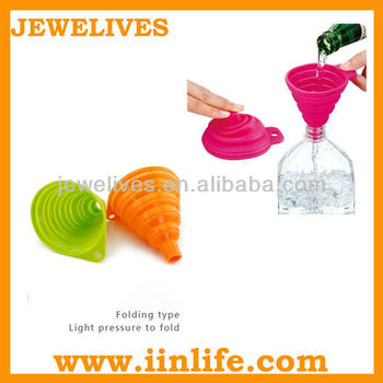 FDA folding and doubling silicone oil funnel for cooking