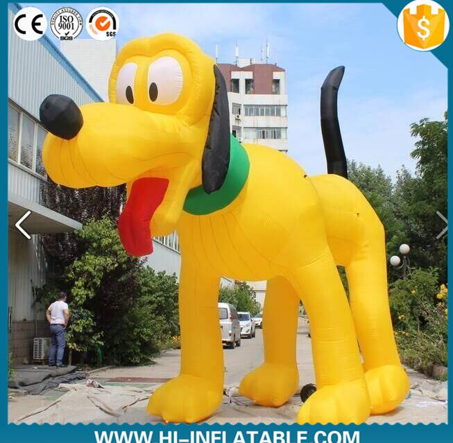 inflatable dog cartoon , hot sell inflatable dog for decoration