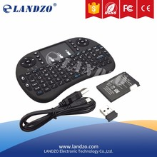 LANDZO 2.4G Mini Wireless Keyboard with Touchpad for Raspberry Pi,PC,Mobile phone,TV box and PTV