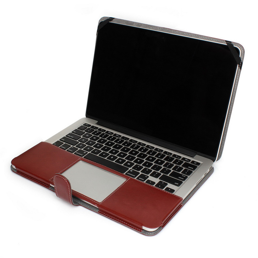 New High Quality Laptop Sleeve Bag PU Leather Case Book Cover Skin for MacBook Air 11 13'' Pro 13 15 inch Retina