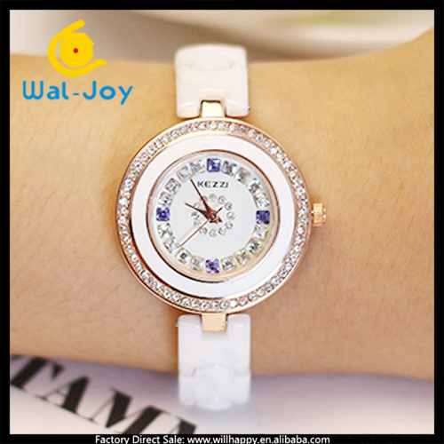 made in China cheap fashion Kezzi most popular ladies ceramic watch(WJ-2669)