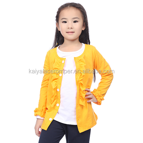 Toddler clothing girls infant girl outfits fall yellow ruffle coat for 5 years girl
