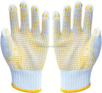 pvc dotted cotton glove/custom boxing gloves