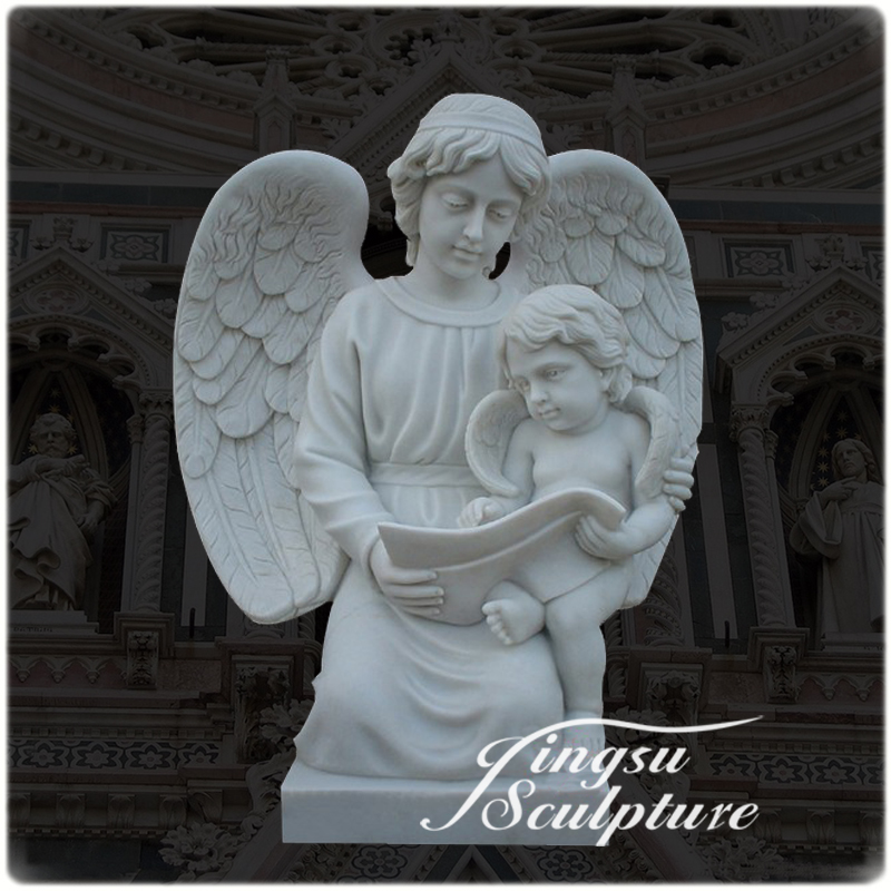 Professional kneeling angel garden statue with high quality