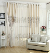 tree design printed sheer curtain fabric for home/office/hotel