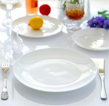 Haonai hot sale! cheap white square porcelain ceramic plates