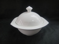 "LM022 hot sale white porcelain 5"" lantern stew pot with lid"