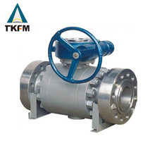 TKFM chinese supplier 3-pc high pressure 20'' gear operated flanged type lf2 ball valves for fire