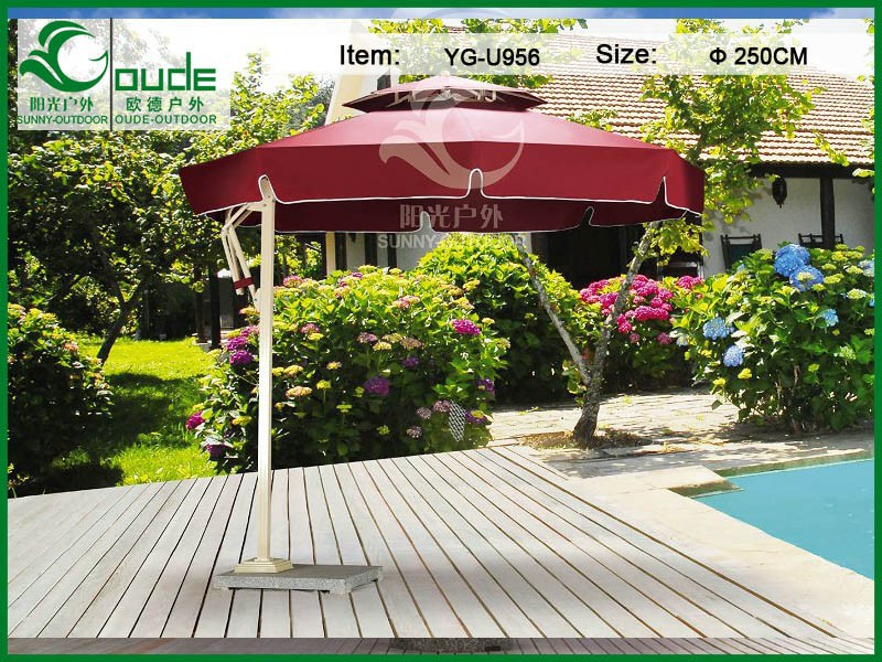 250cm round yellow patio umbrella