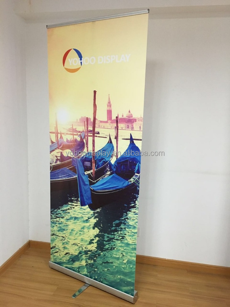 Indoor custom different size Advertising Display Roll Up Banner Stand