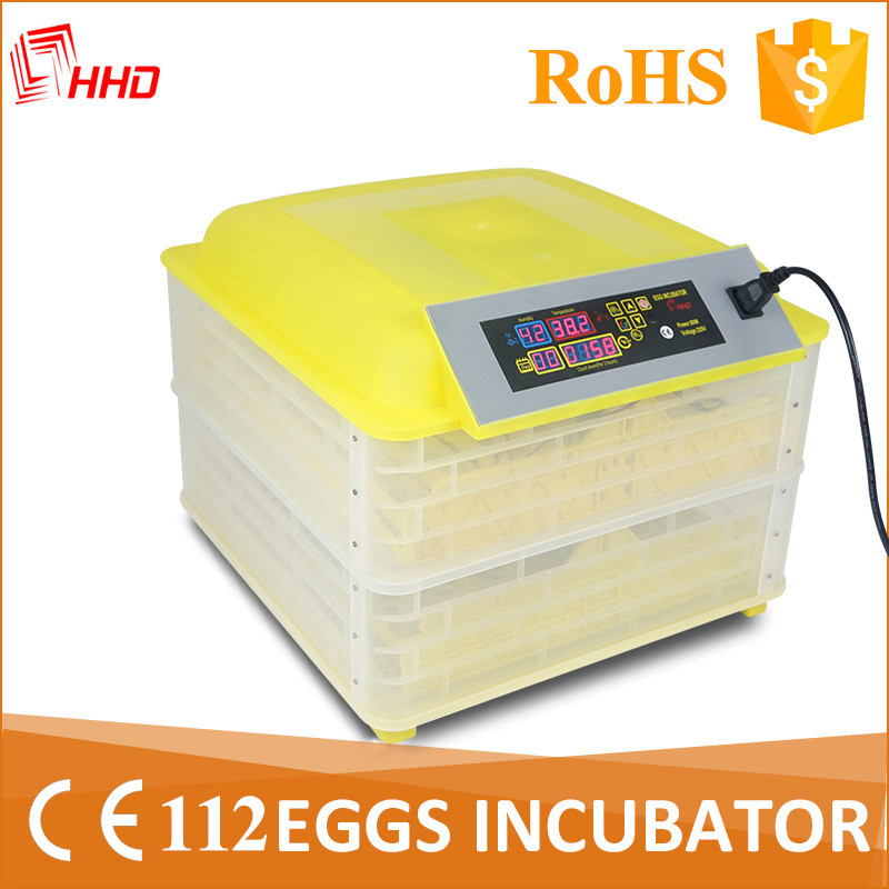 HHD CE approved 96% hatching rate 112 automatic incubator for baby birds YZ-112