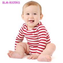 Popular long sleeve blank infant baby striped onesie romper baby boy names unique pictures