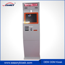 LCD touch screen self checkout terminal bill payment information kiosk