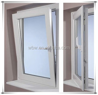 pvc tilt &turn window with German Rato brand handle High quality Windows and doors