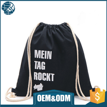 2017 cheap custom image black nylon drawstring non woven fabric bag for shopping