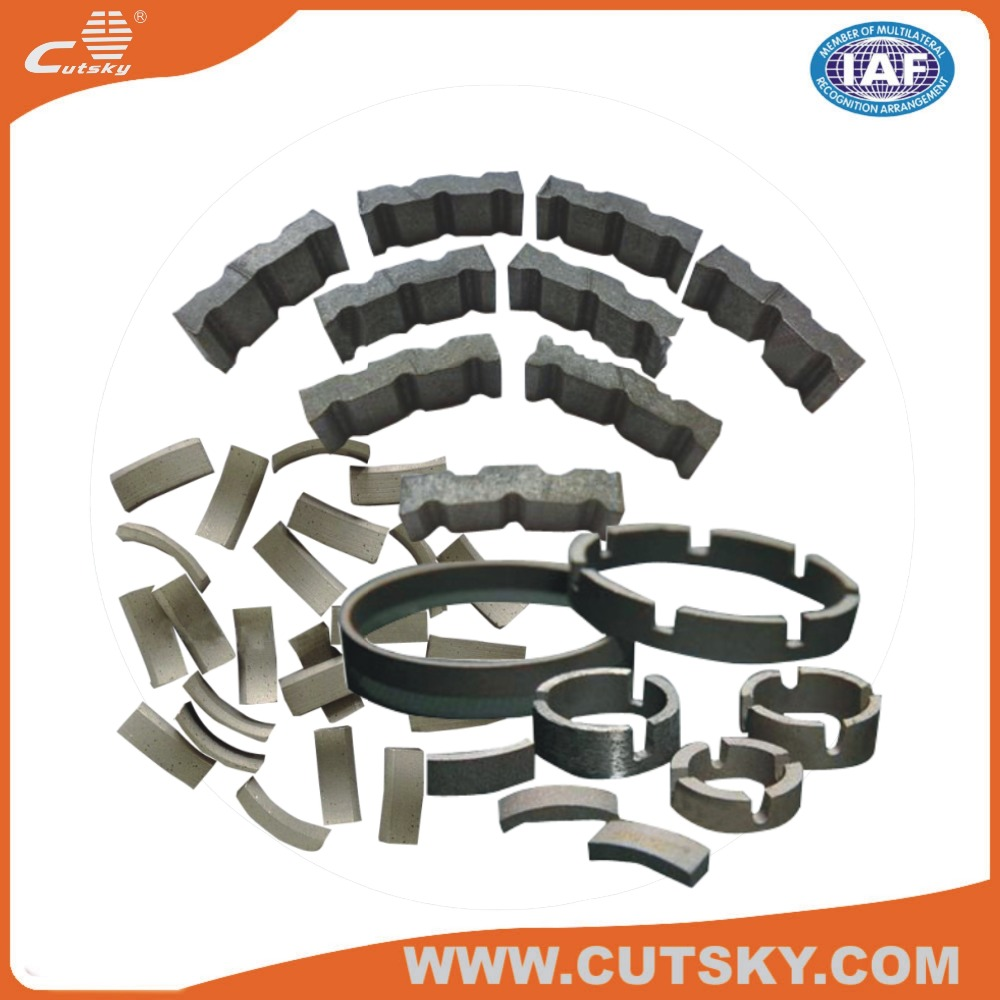 High speed mining core drill bit diamond segment